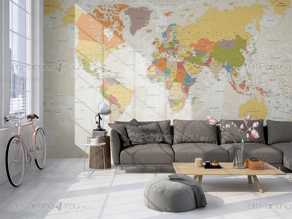 Papier Peint Pour Bureau poster mural & papier peint carte du monde | decor, wall