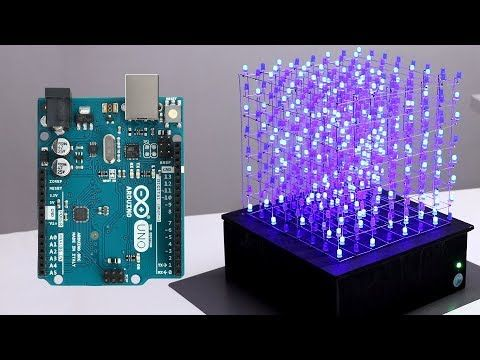 HOW TO BUILD YOUR OWN 8x8x8 LED CUBE WITH AN ARDUINO UNO - YouTube