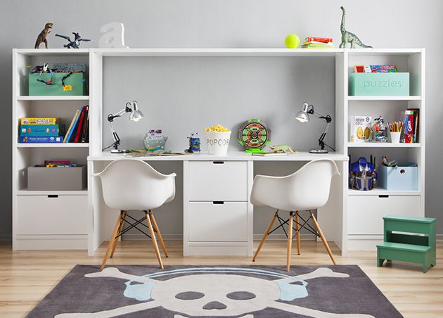 Mesa de estudio para dos nios escritorio Pinterest Mesas de