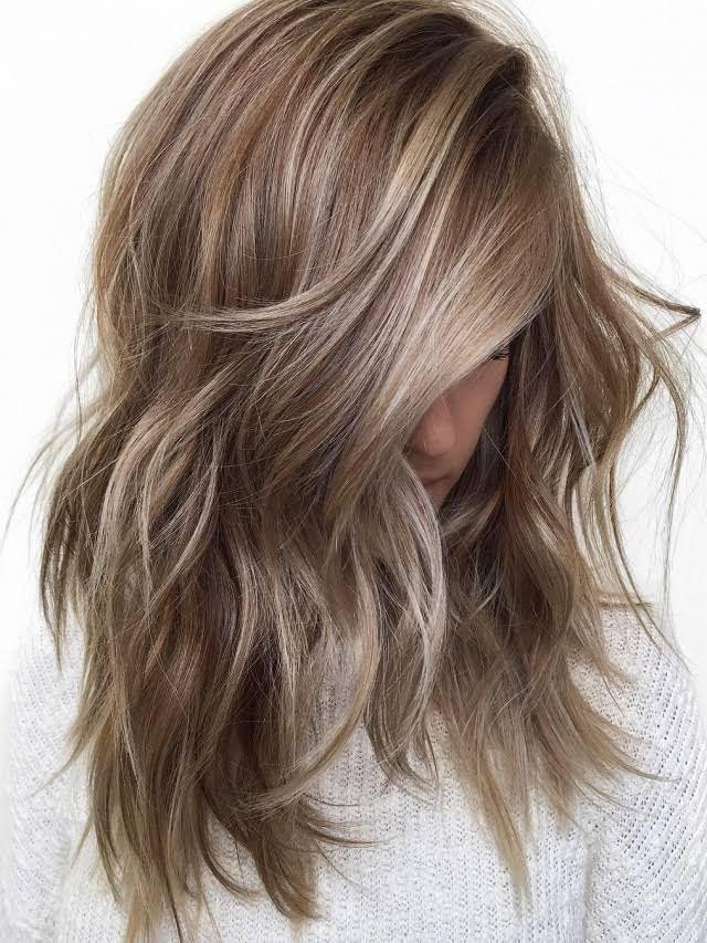 Iced Hazelnut Dark Blonde Hair Color Hair Lengths Hair Styles