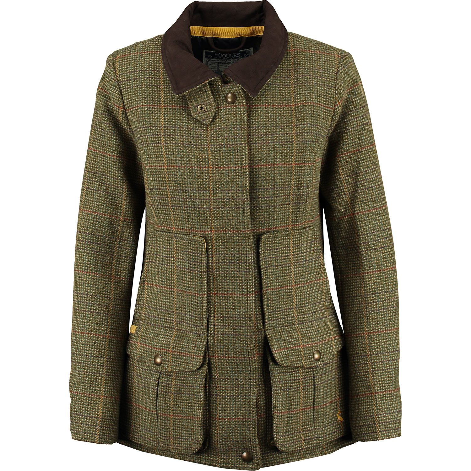 "£99.99 ""Joules"" Green Tweed Field Coat - TK Maxx"