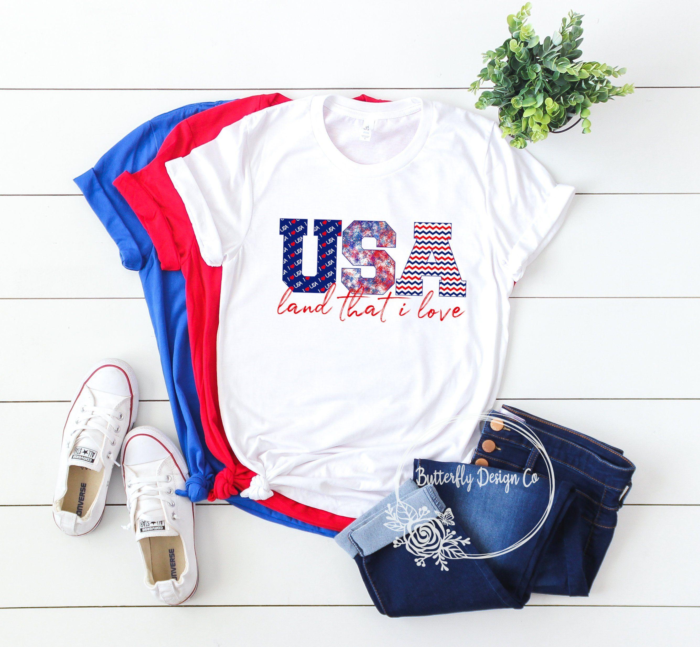 Patriotic Shirt USA Land That I Love Shirt 4th of July