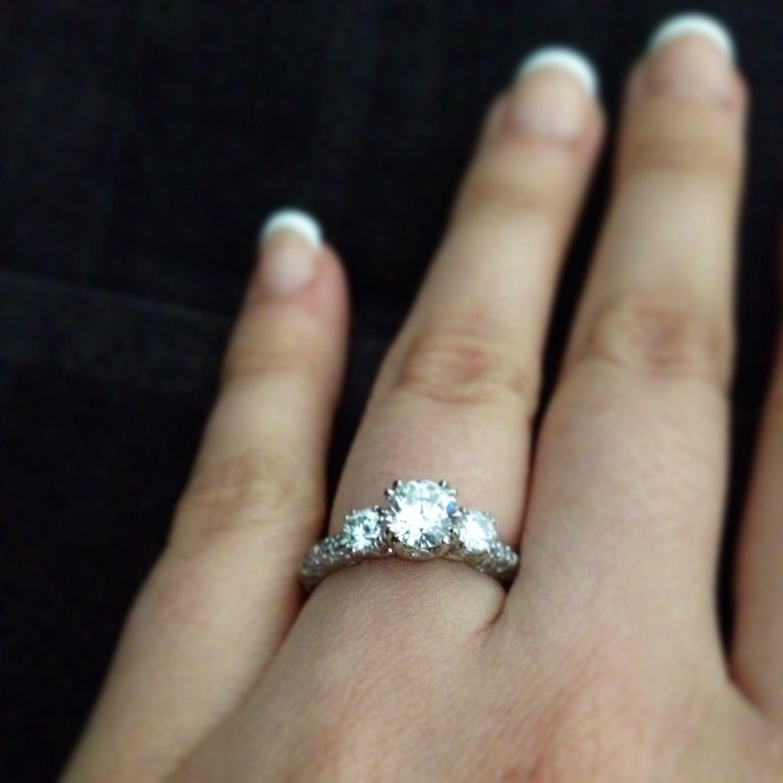 Show me your three stone e rings Weddingbee