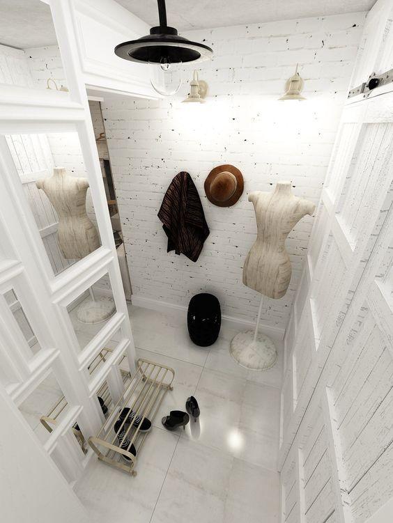 21+ideas+para+decorar+tu+recibidor+con+ladrillo+visto