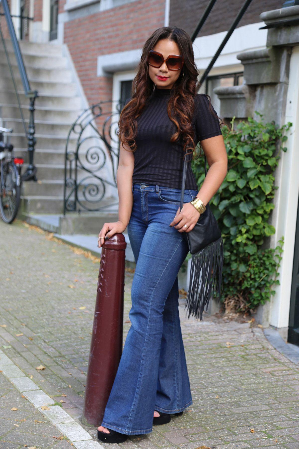 A flare affair : flare jeans street style - Cositas Fashion Blog ...