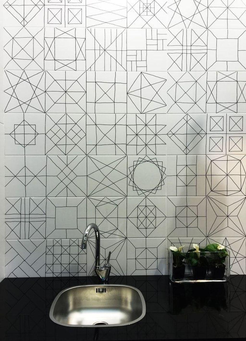 38 Lovely Geometrical Tiles Ideas For Your Bathroom Decoration Trendehouse Bathroom Tile Designs Tile Trends Modern Bathroom Tile