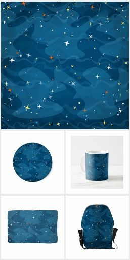 Nebula Waves and Stars Pattern ✨ Collection   Nebula's cloudlike waves and shining stars in space ... With this a bit abstract, a bit cartoon design, you will feel the eternity and spaciousness of space. #zazzle #space #star #stars #galaxy #cosmos #nebula #artprint #gift #giftideas #design #wedding #homedecor #decoration #fashion
