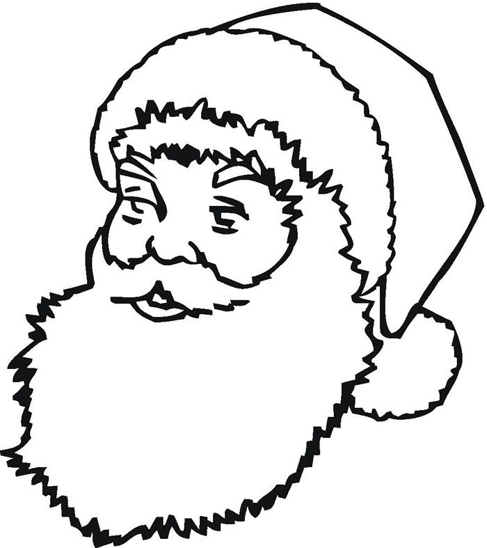 Face Templates For Christmas   Santa template, Christmas ...
