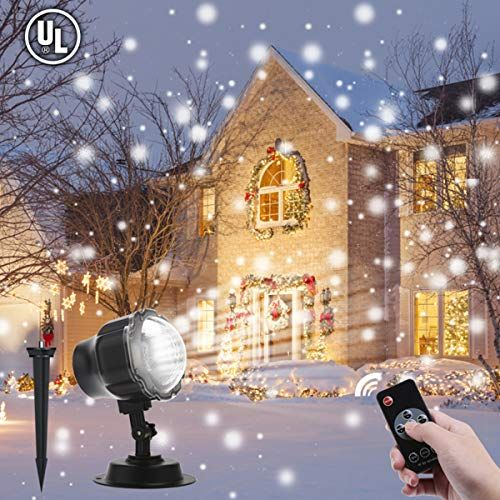 Christmas Projector Lights Outdoor, ALOVECO LED Snowfall Landscape