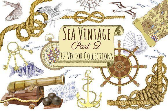 Sea Vintage Elements  @creativework247