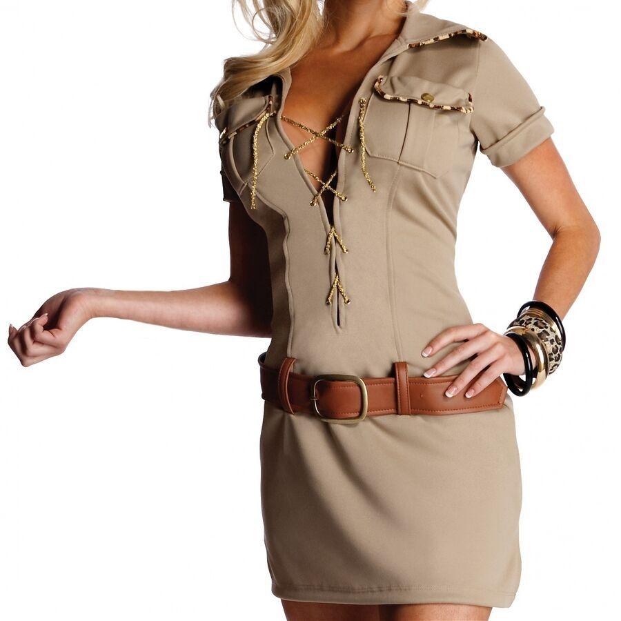 Jane Costume Adult Tarzan Safari Halloween Fancy Dress