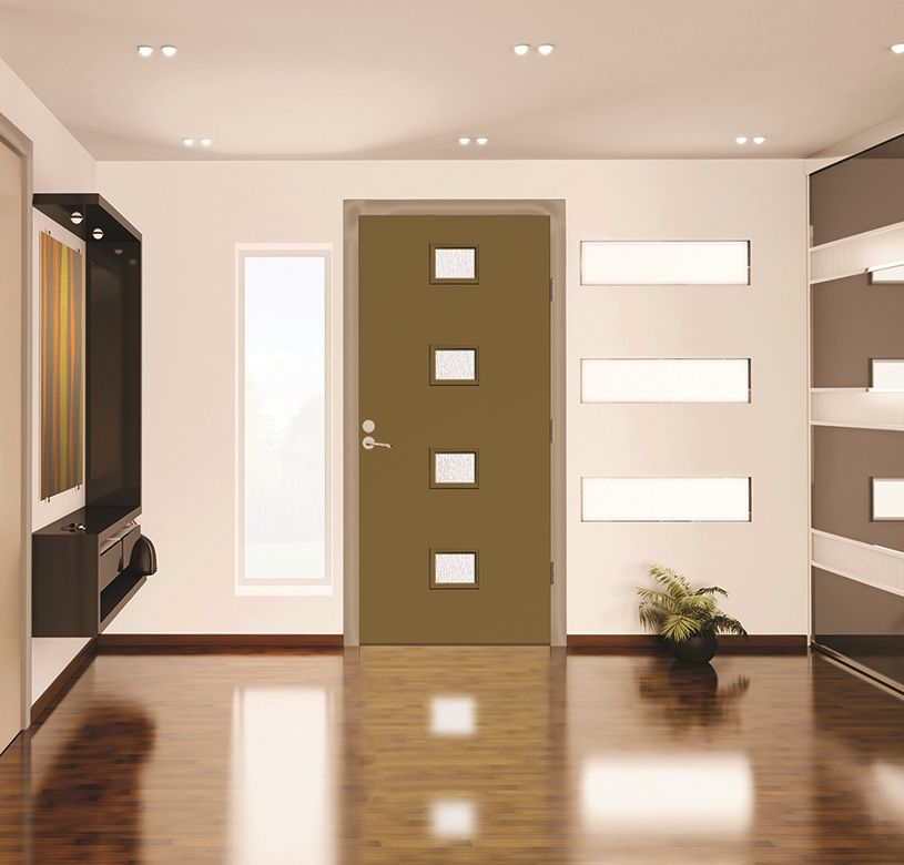 Pulse Echo door painted Relic Bronze with Chord privacy glass from ...