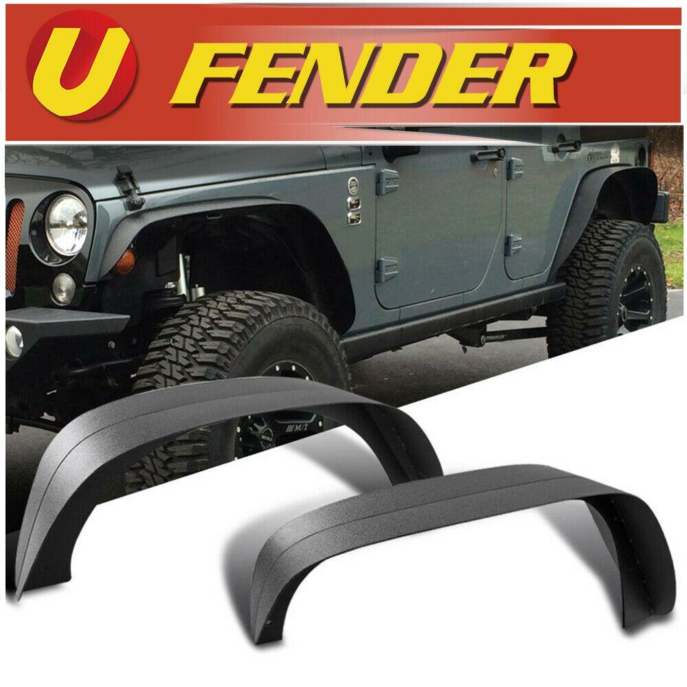 Sponsored Ebay For 2007 2018 Jeep Wrangler Jk Black Steel Flat Style Textured Fender Flare 4pcs Fender Flares Jeep Wrangler Jk Wrangler Jk