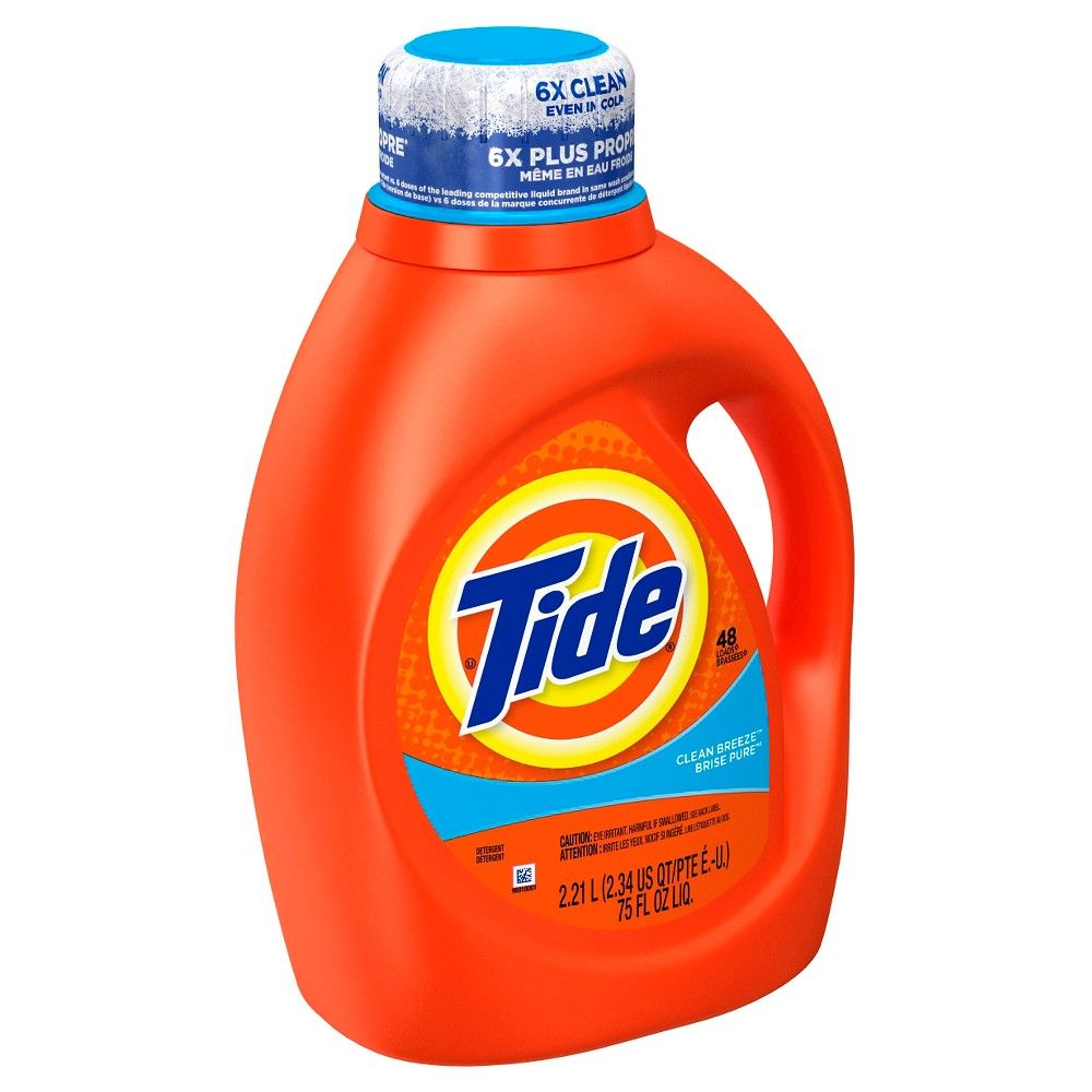 Tide Clean Breeze Scent Liquid Laundry Detergent 75 Oz Laundry