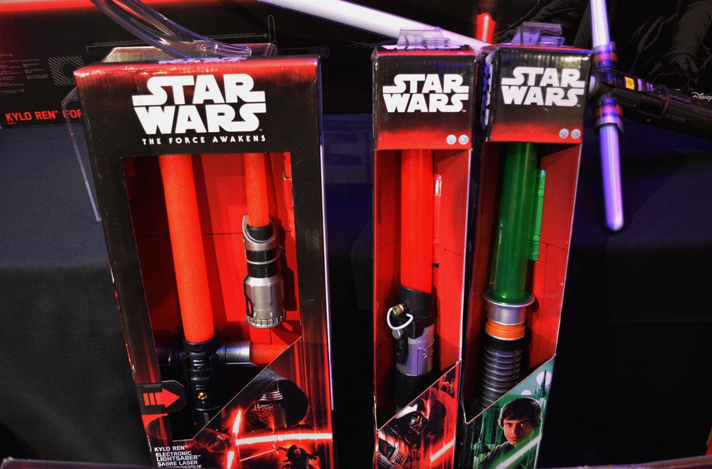 Electronic Lightsabers From Kylo Ren, Darth Vader, and Luke Skywalker