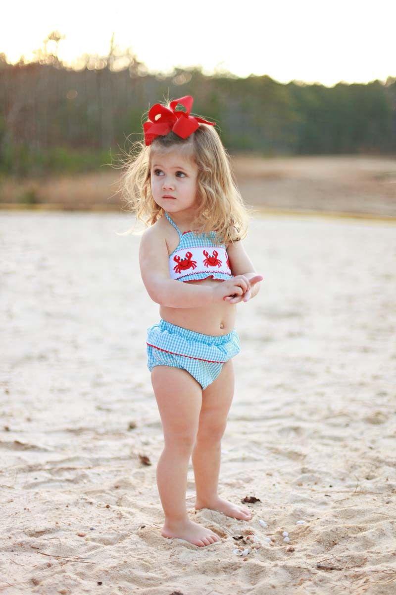 42d25d962a Southern Tots Crab Bikini | Cutie Patooties | Little mermaid baby ...