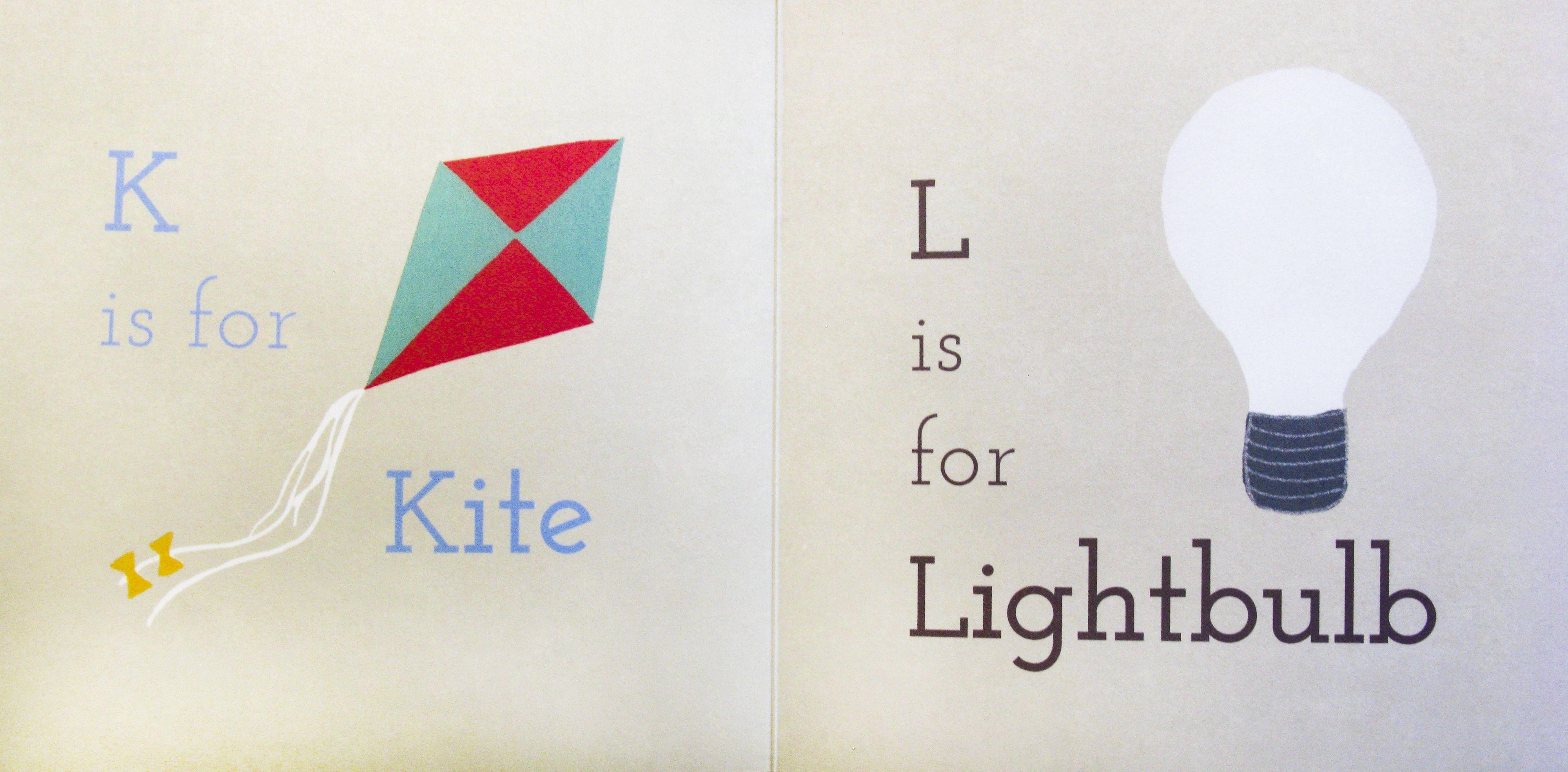 K is for Kite, L is for Lightbulb! #alphabet #powkidsbooks