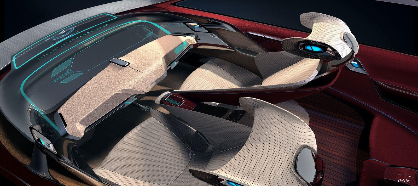 Bmw I7 Concept Interior Design Sketch Car Interior Design Car