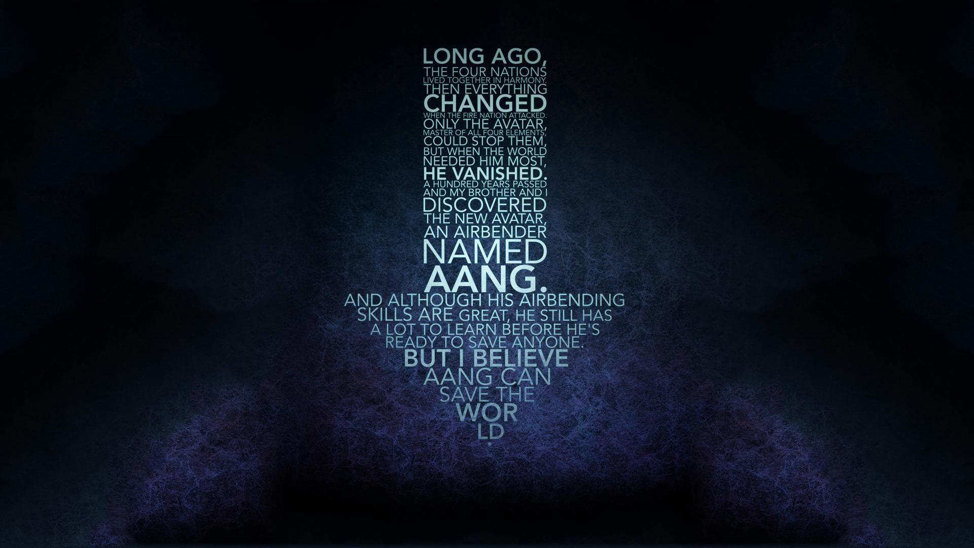Avatar The Last Airbender Aang Arrows Design Typography Quote Wallpaper Avatar The Last Airbender The Last Airbender Aang