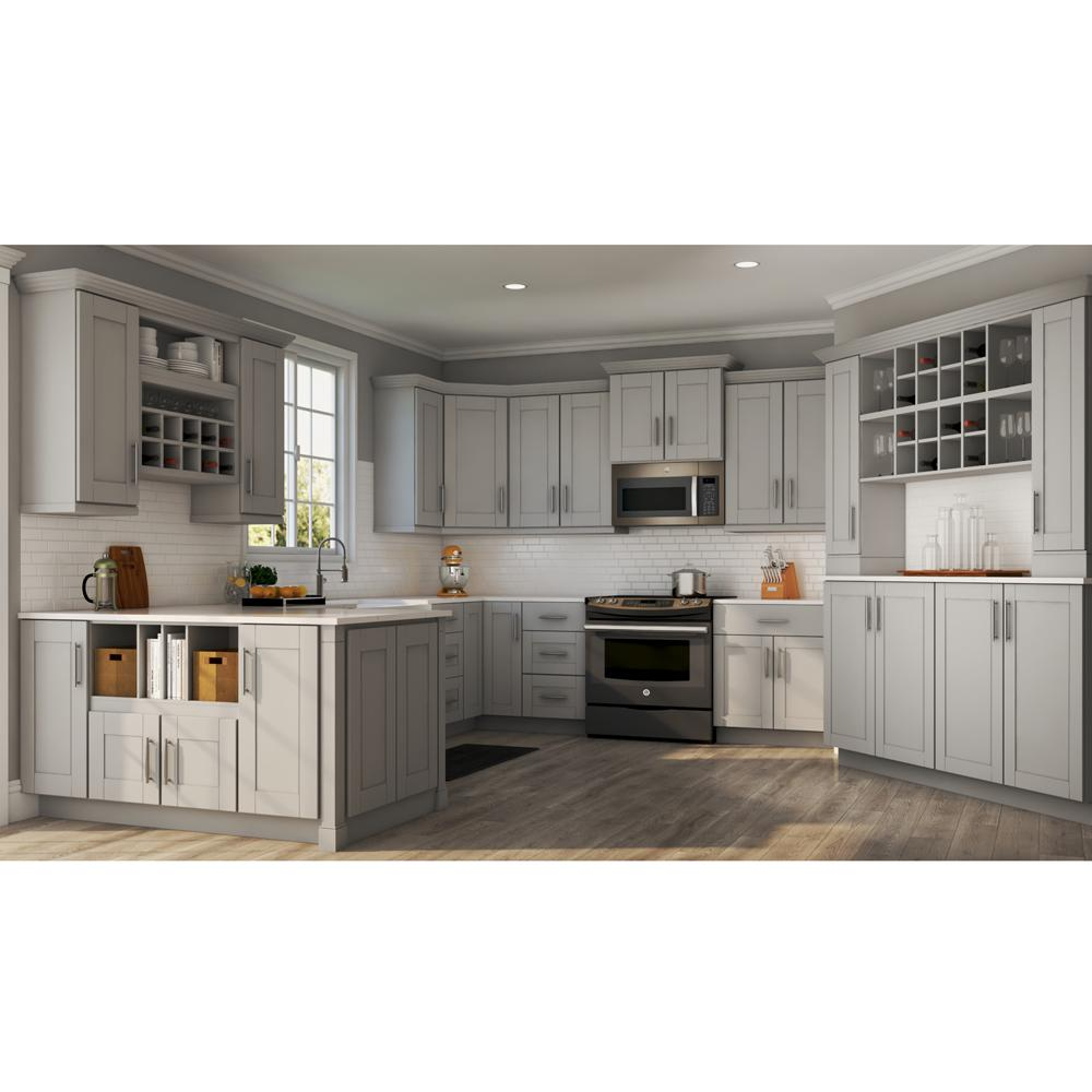 Hampton Bay Shaker Assembled 36x34 5x24 In Farmhouse Apron Front Sink Base Kitchen Cabinet In Dove Gray Ksbd36 Sdv The Home Depot In 2020 Modern Kitchen Cabinet Design New Kitchen Cabinets Kitchen Cabinet Design