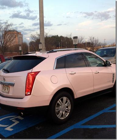 Pink Cadillac SRX