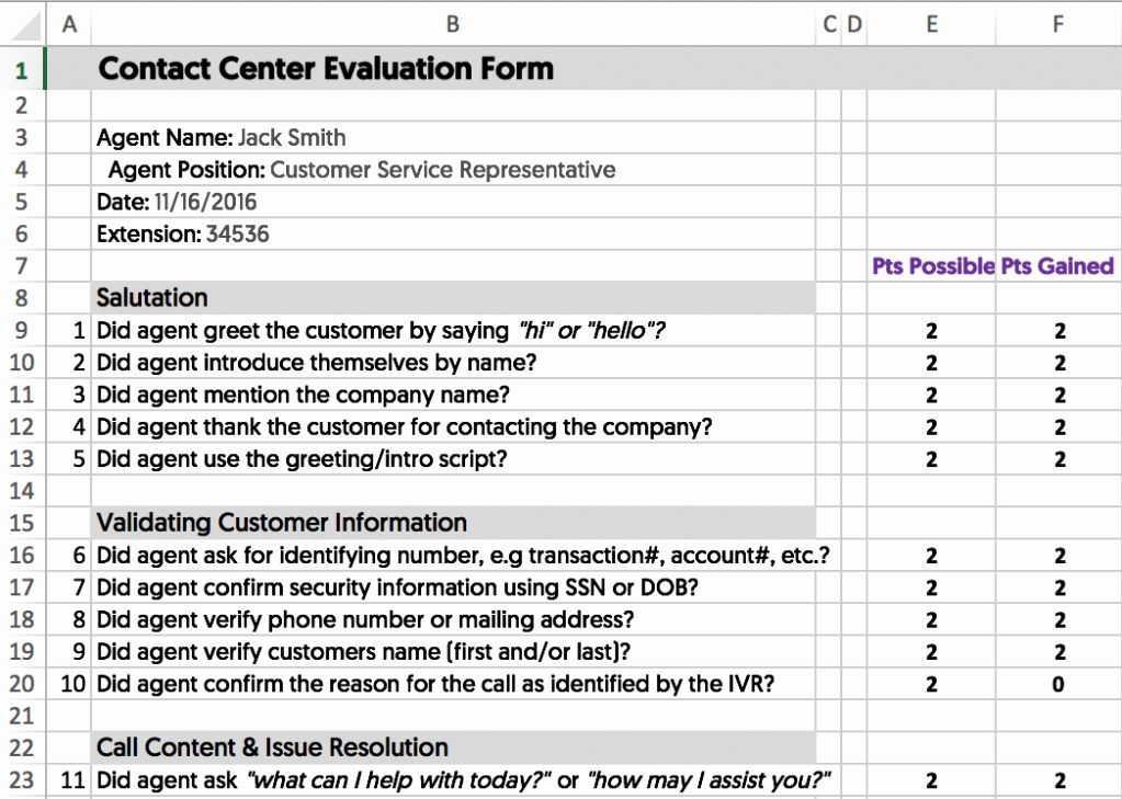 Customer Service Performance Review Template in 2020