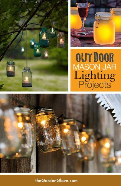 5 Gorgeous Outdoor Mason Jar Lights The Garden Glove Mason Jar Lighting Mason Jars Jar Lights