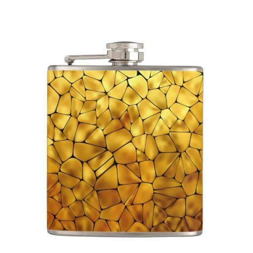 Mosaic 1 Wrapped Flask