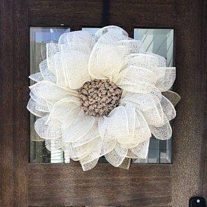 Photo of Wreaths for front door, sunflower wreath, autumn wreath, burlap wreath, front door wreath, wreaths, wreath, autumn wreath, sunflower decor,
