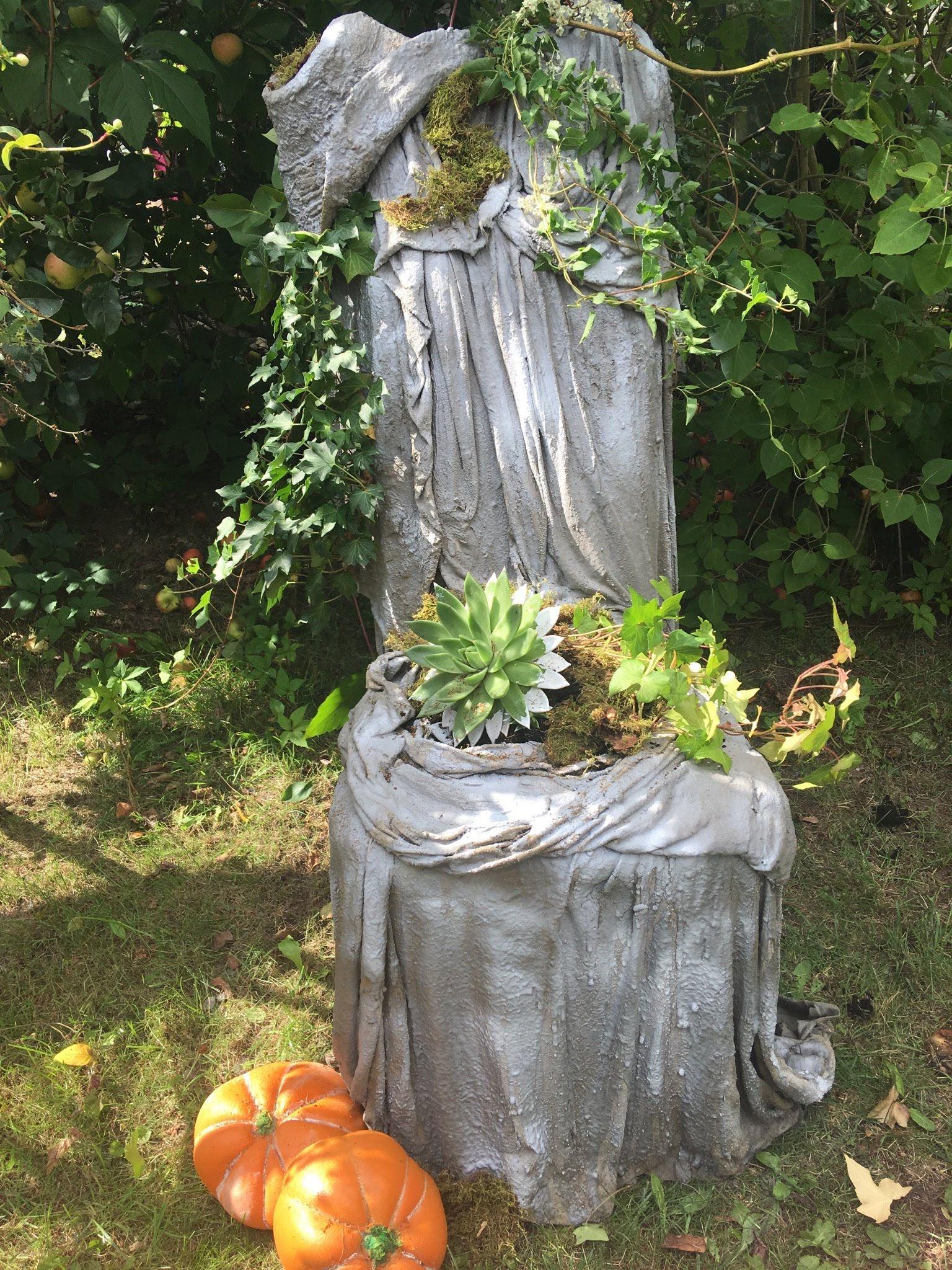 Beton Pflanz Stuhl Für Die Ewigkeit Garten Beton