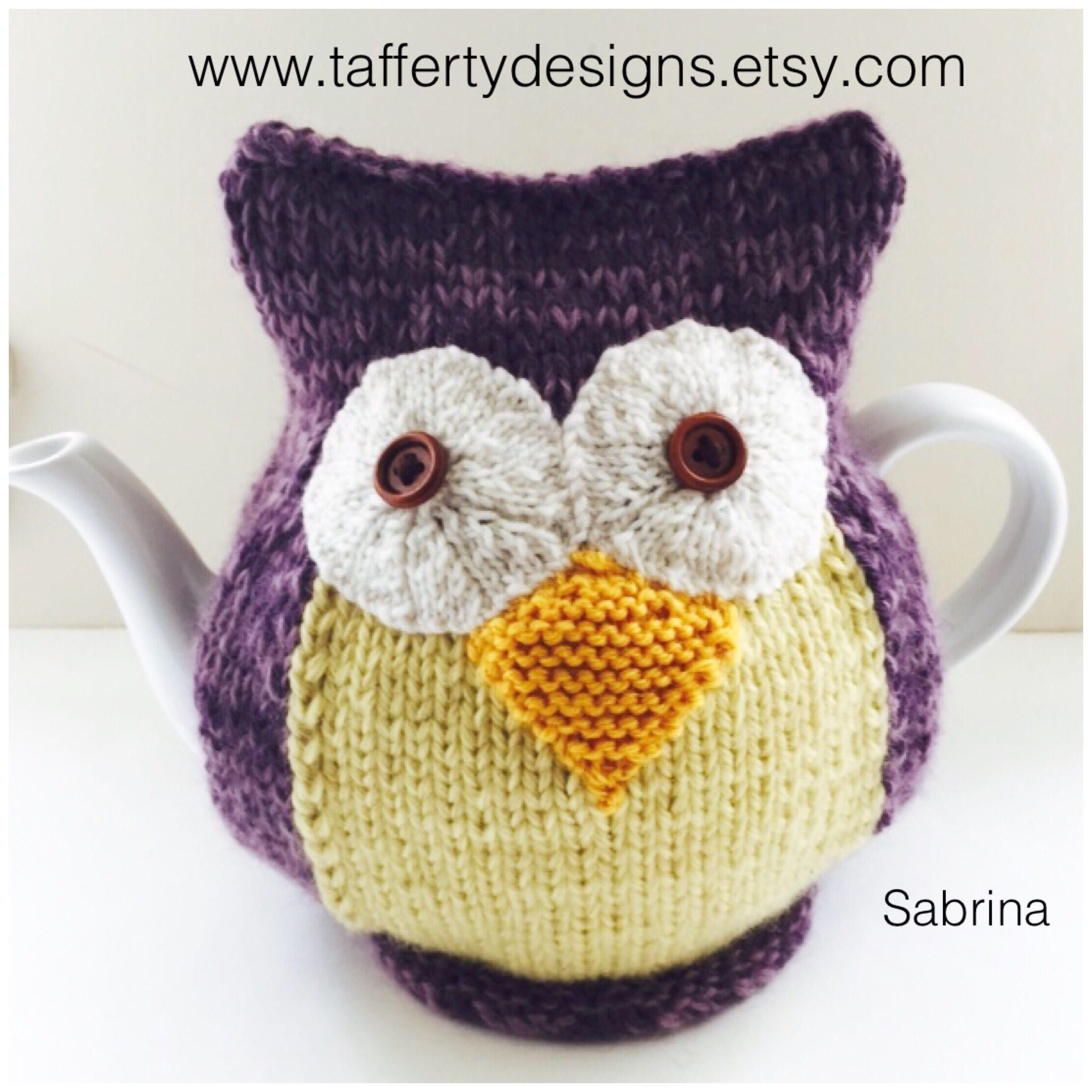 Let Sabrina the owl be your personal tea warmer. https://www.etsy ...