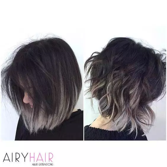 30 Best Black Grey Ombre Hair Extension Color Ideas 2020 In 2020 Short Ombre Hair Grey Ombre Hair Short Hair Balayage