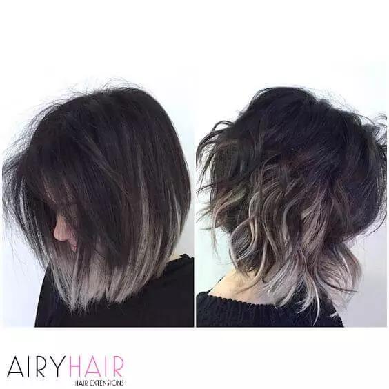 30+ Best Black & Grey Ombré Hair Extension Color I