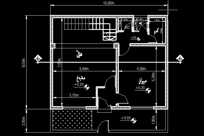 Small House 100 Meter Square Two Story Home Desing