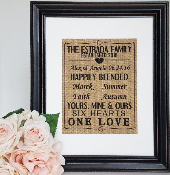 Wedding Gifts For Relatives: Blended Family Wedding Gift