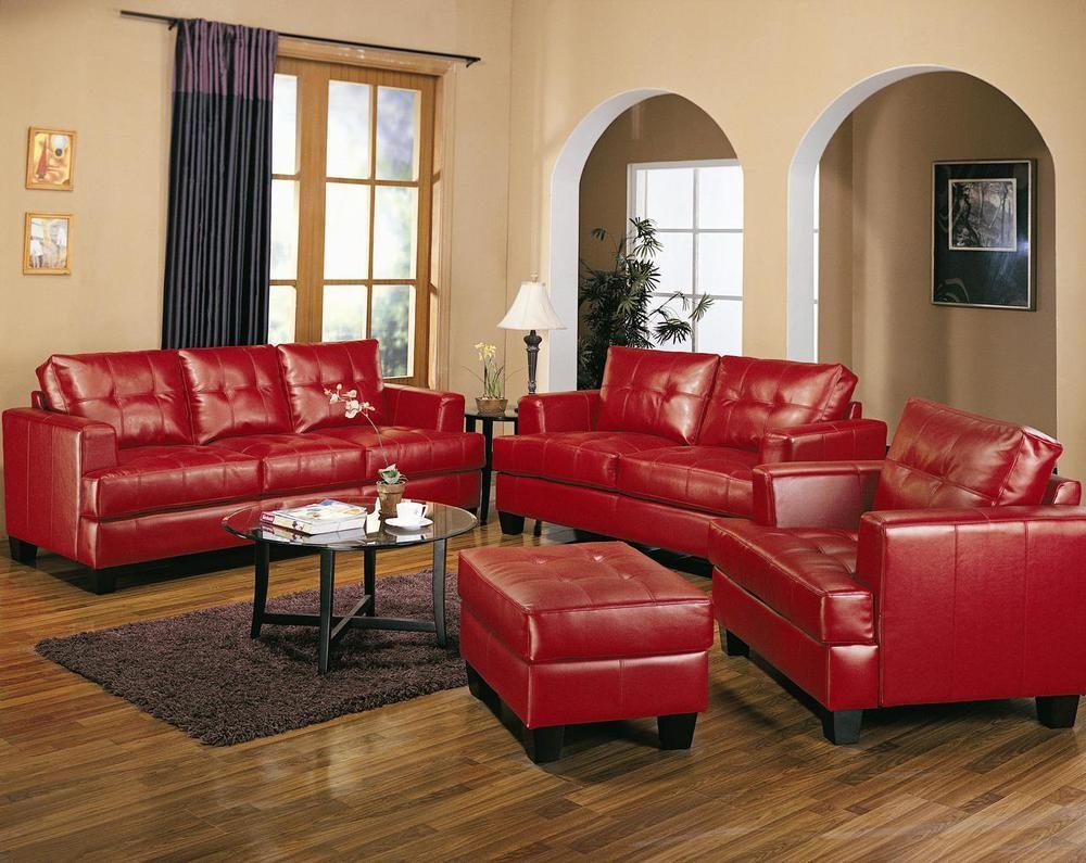 Samuel contemporary leather sofa set pcs modlivingdecorcom