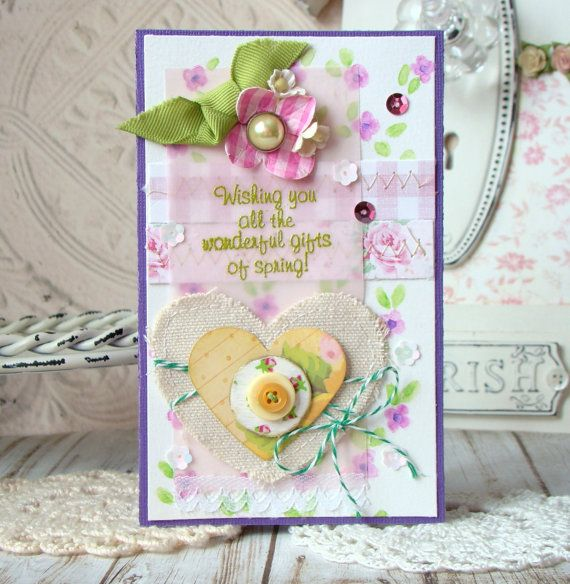 Gifts Of Spring Shabby Chic Handmade card