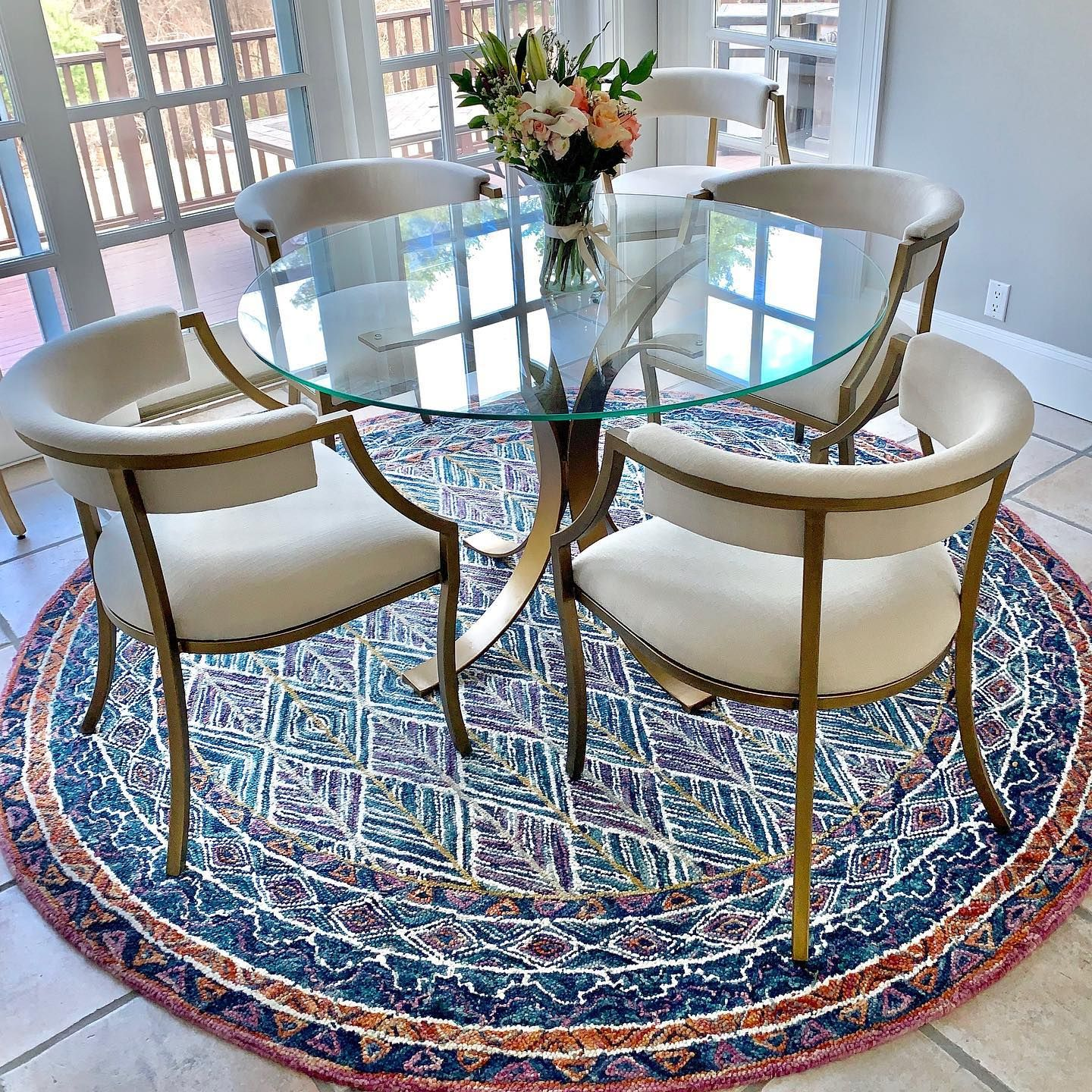 Ada Upholstered Dining Chairs Set Of 2 Glass Dining Room Table Glass Round Dining Table Round Dining Room Sets