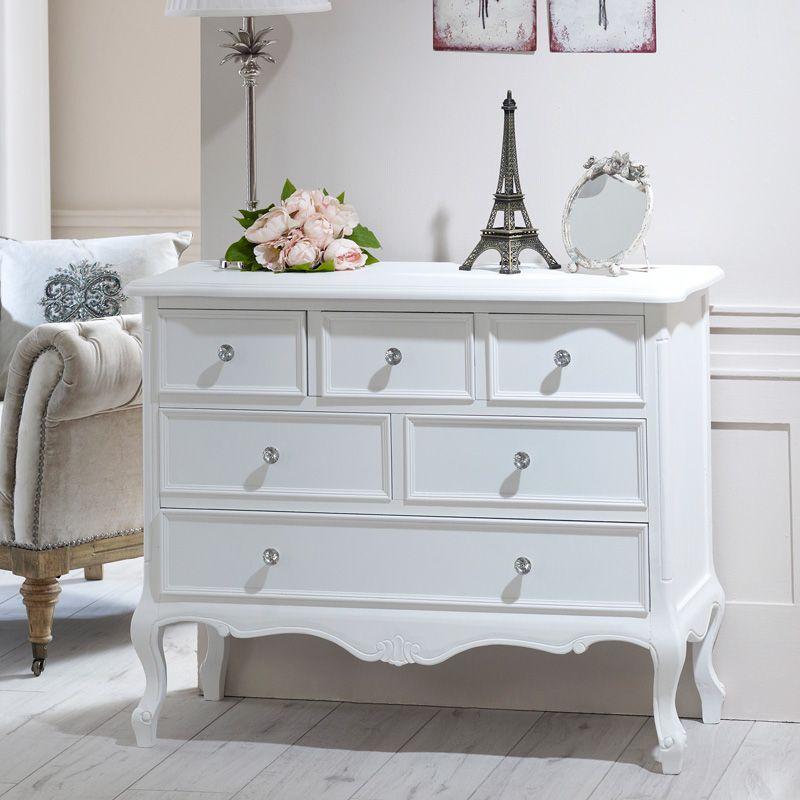Elise Range 6 Drawer Chest Ornate, White Bedroom Furniture Sets The Range