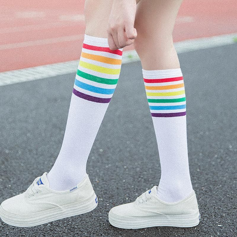 """RAINBOW"" LONG SOCKS – AESTHENTIALS"