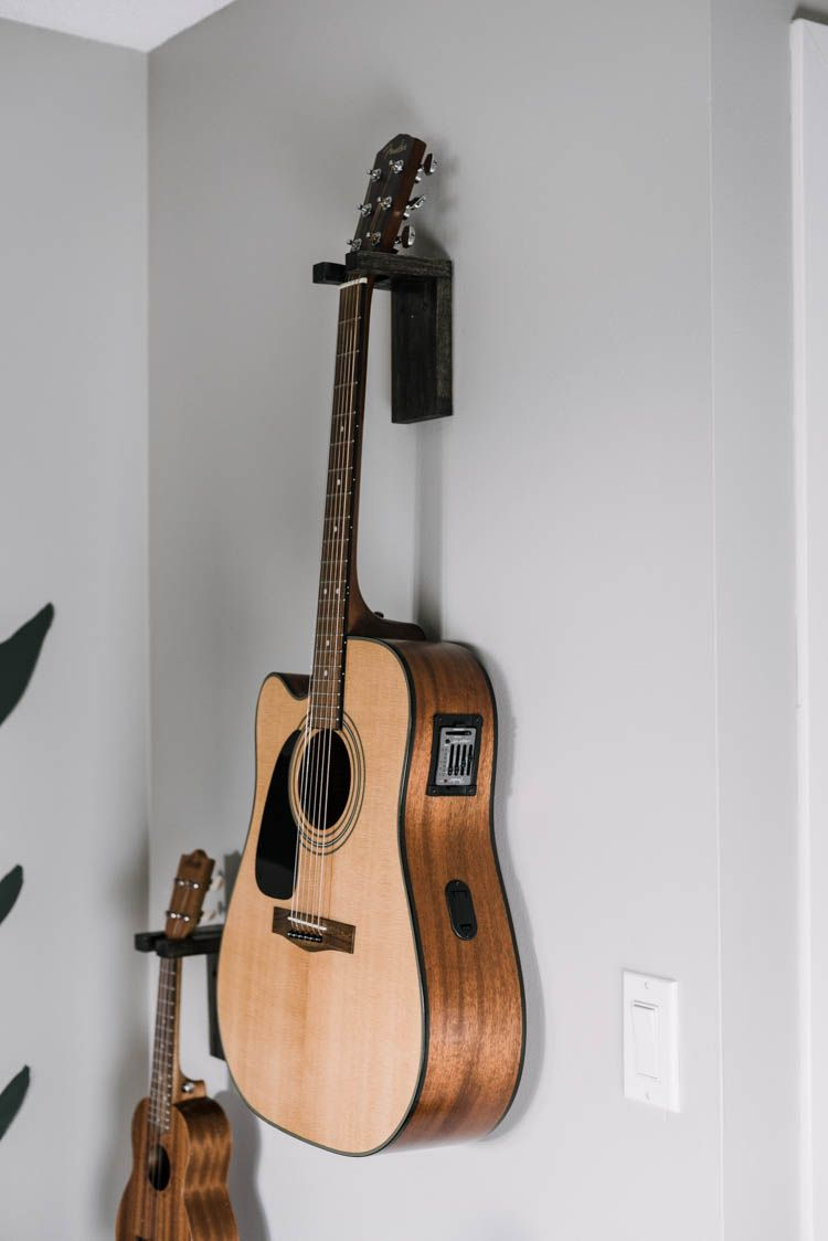 Diy wall mount guitar holder lemon thistle in 2020 diy