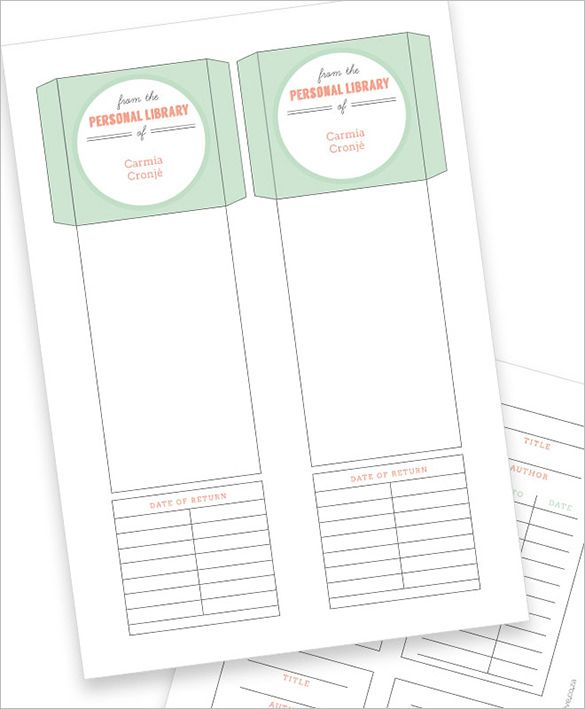 Library Card Template - 11+ Free Printable Word, PDF, PSD, EPS - library card template