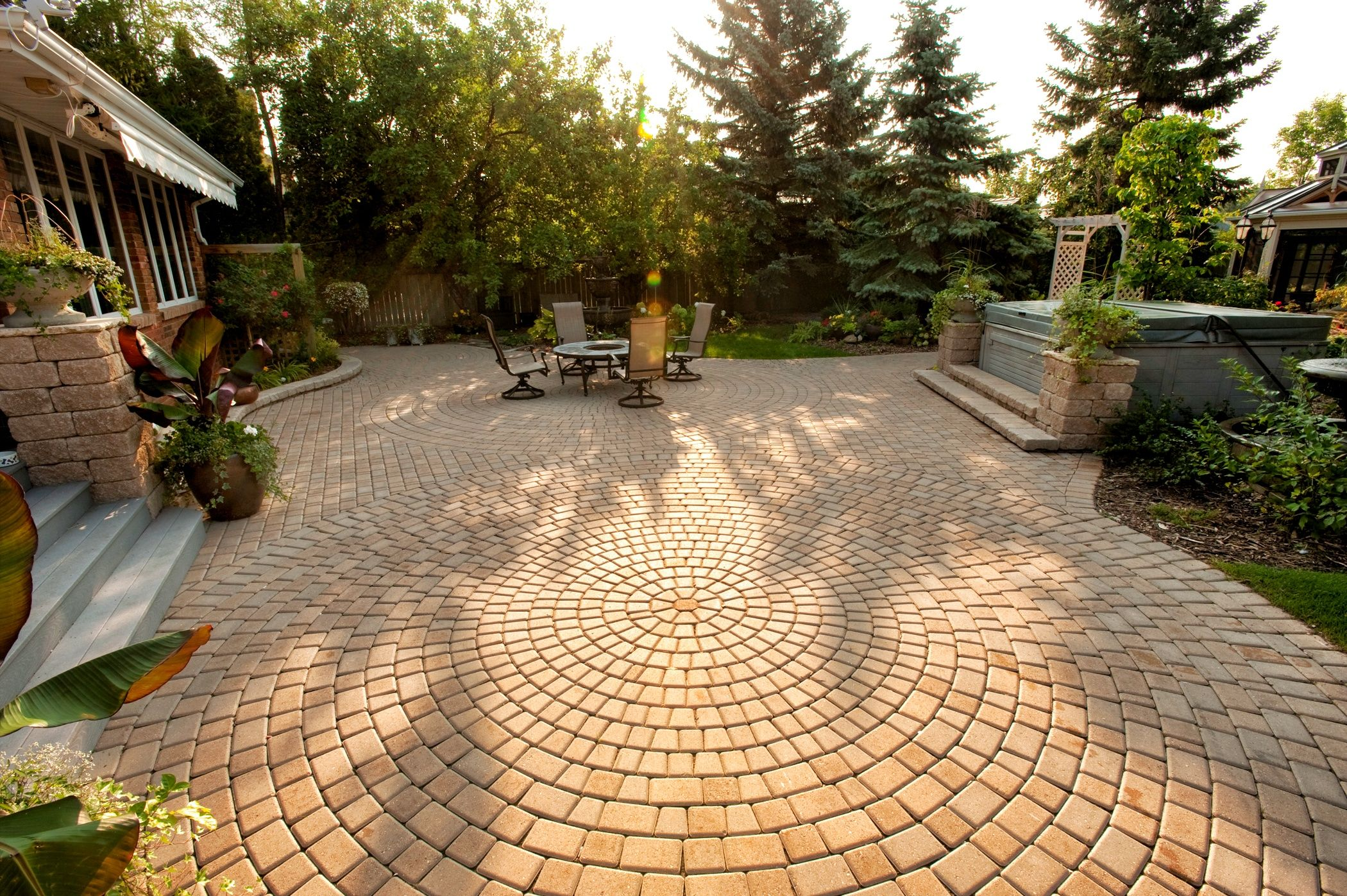 New patio and landscaping close up of the pavers flickr - Www Interlock Concrete Com Victorian Circle Patio Paver