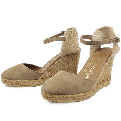 26248298318 Gaimo Obi Suede High Wedge Espadrilles | Spanish Fashion - SPANISH ...