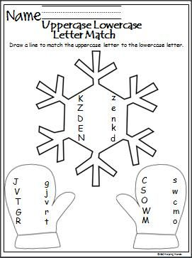 winter match the letters is a free uppercase and lowercase letter matching worksheet alphabet. Black Bedroom Furniture Sets. Home Design Ideas
