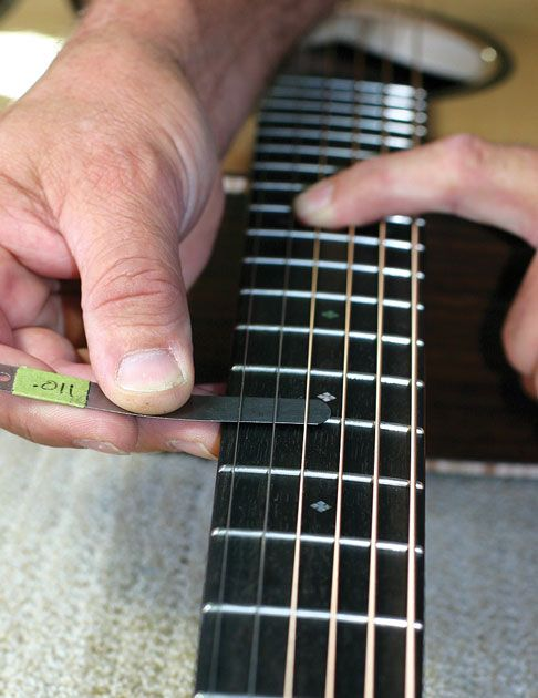 How To Measuring And Adjust Your Guitar S Action Guitar Guitar Notes Acoustic