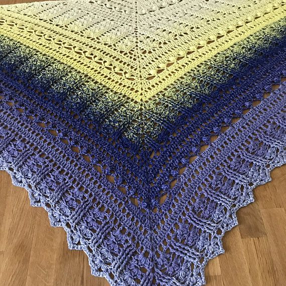 PDF Crochet Shawl Pattern Custard Cream | a | Pinterest | Hardanger ...