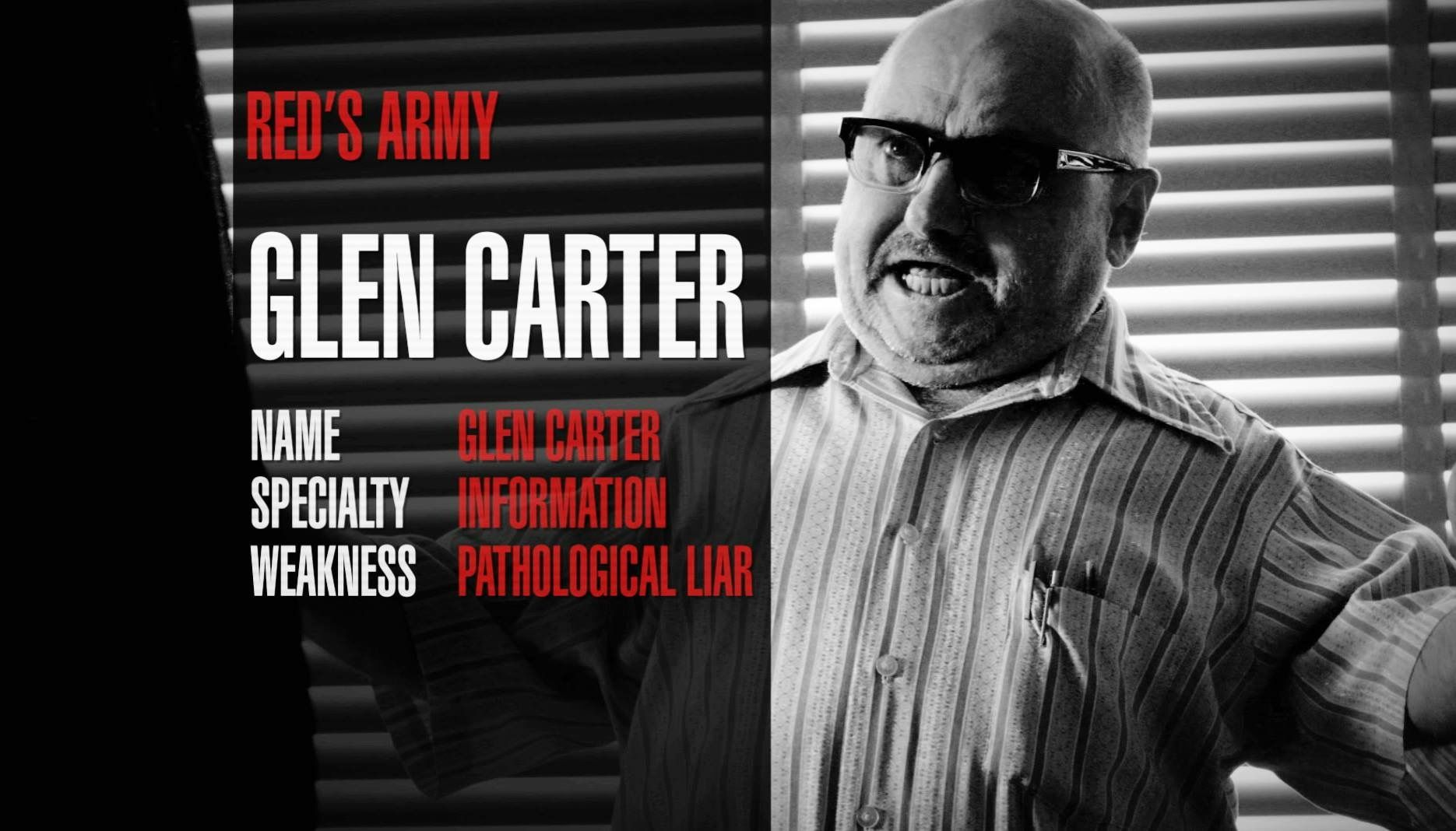 Glen Carter Clark Middleton The Blacklist The Blacklist Red Army Pathological Liar