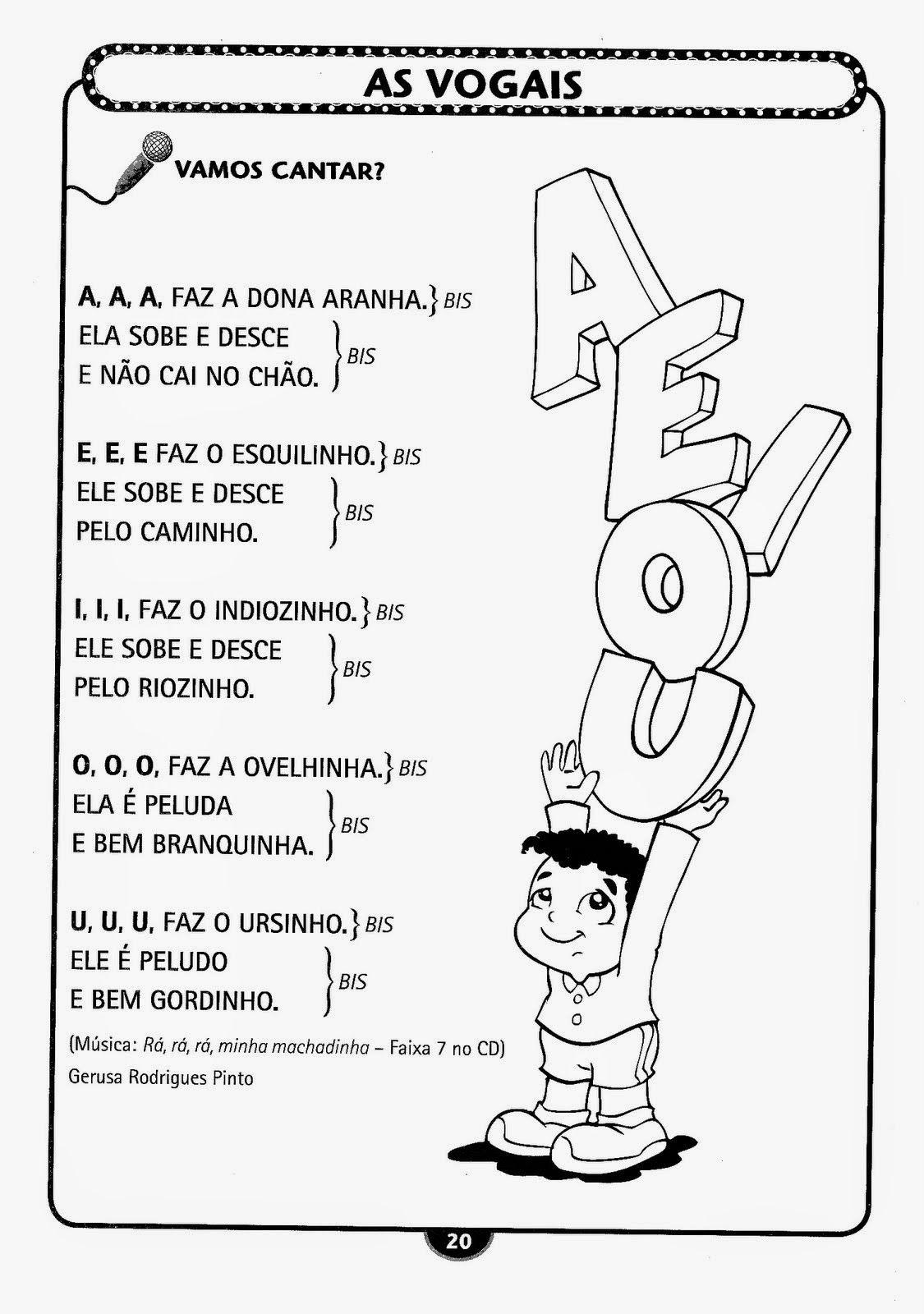 Favoritos musica das vogais para imprimir - Pesquisa Google | Escola  YZ75