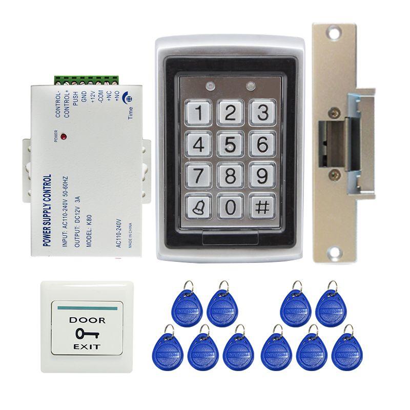 Wholesale Metal Rfid Reader Entry Code Keypad Rfid Door Access Control Kit Electric Strike Door Lock In Stock F Access Control System Access Control Diy Door